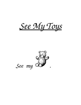 """PreK and Kindergarten Sight Words Book """"See"""" and """"My"""""""
