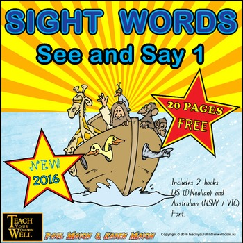 Sight Words - See and Say 1 - 20 pages FREE