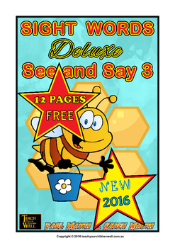 Sight Words - See and Say 3 Deluxe - 12 pages FREE