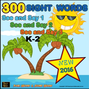 Sight Words - See and Say 300 Sight Words