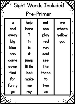 Sight Words Sentence Order - Set 1