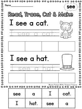 FREE Sight Words Sentence Practice