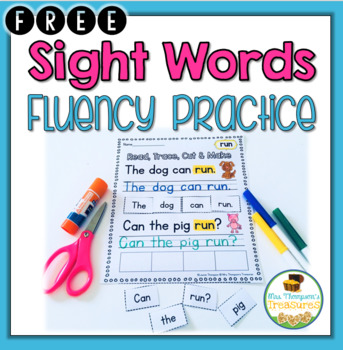 FREE Sight Words Fluency Practice