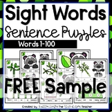 Sight Words Sentence Building Puzzles FREE SAMPLE