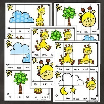 Sight Words Sentence Building Puzzles Fry's First 100