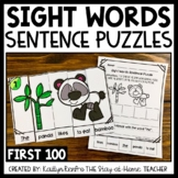 Sight Words Sentence Building Puzzles First 100