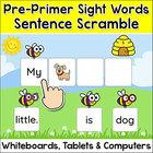 Sight Words Game - Pre-Primer Sentence Scramble - Spring A
