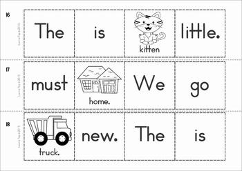 Sight Words Sentence Scramble (Primer Words)