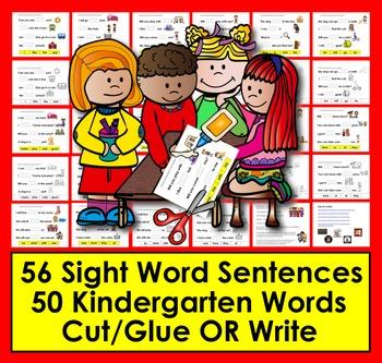 Sight Words Sentences For PrePrimer Words