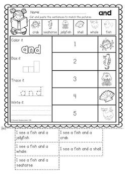 Read and Match  {Pre Primer Sight Words Sentences} NO PREP Printables