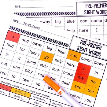 Sight Word Flash Cards & Game (September)
