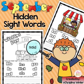 Sight Words {September Edition}