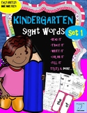 Sight Words Kindergarten - Read, Trace, Write, Color, Fill