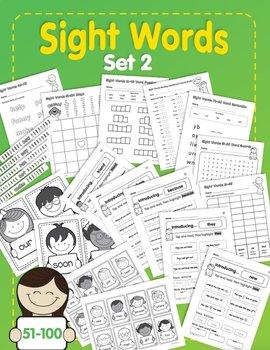 Sight Words: Set 2: 51-100
