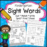 Kindergarten Sight Words Activities - Set Two