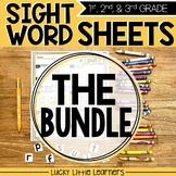 Editable Sight Words Worksheets Bundle | Sight Word Practice