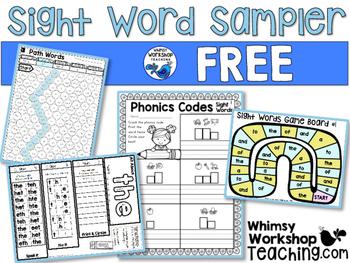 Sight Words : Sight Words No Prep FREE Sampler