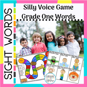 Sight Word Practice :Silly Voice Game Grade 1 Dolch Words