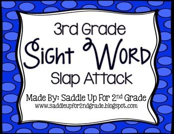 Sight Words Slap Attack: 3rd Grade Dolch Sight Words