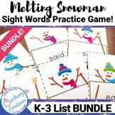 Sight Words Snowmen Game BUNDLE!
