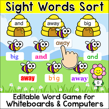 Sight Words Sorting Game - Word Work Game for SmartBoards & Computers