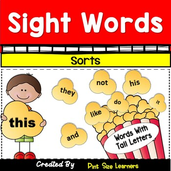 Sight Words Sorting Scrambled Sentences Alphabetizing Activities K and 1