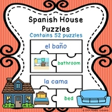 Sight Words Spanish House Vocabulary Game Puzzles ELL ESL Newcomer Activity