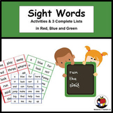Sight Words Spelling & Reading Activities + Complete lists
