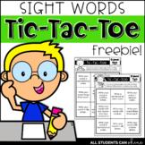 Sight Words Tic-Tac-Toe