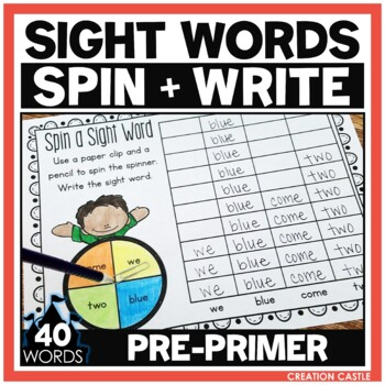 Sight Words - Spin a Sight Word - Pre Primer