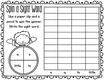 Sight Words Worksheets - Pre Primer Sight Word Practice