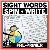Sight Words Worksheets - Pre Primer Sight Word Practice