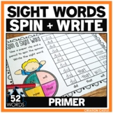 Sight Words Worksheets - Primer Sight Word Practice