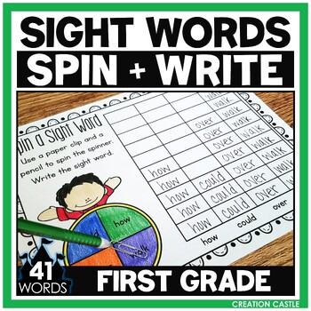 Sight Words - Spin a Sight Word - 1st Grade