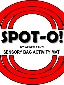 Sight Words Spot-O! Fry Words 1 to 20 Sensory Bag Activity