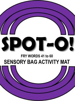 Sight Words Spot-O! Fry Words 41 to 60 Sensory Bag Activity