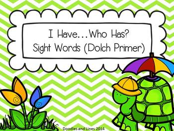 Sight Words - {Spring} I Have, Who Has - Dolch Primer