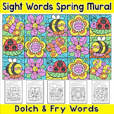 Color by Sight Words Mural - Spring Activities / Summer Activities
