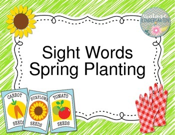 Sight Words Spring Planting