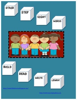 Sight Words Stair Steps/Build, Read, Write!