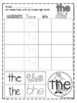 Sight Words Stamp, Trace, Write, Cut and Paste!