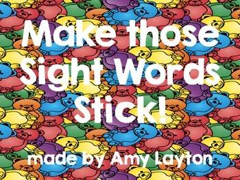 Sight Words Stick