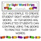 Sight Words Strips - Second Grade Words:  Make A Sight Wor