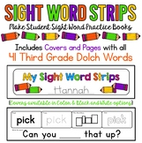 Sight Words Strips - Third Grade Words:  Make A Sight Word Practice Book