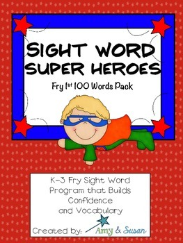 Sight Words Super Heroes 1st 100 Words