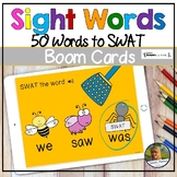 Sight Words Swat the Bugs | Digital Game | Boom Cards | Di