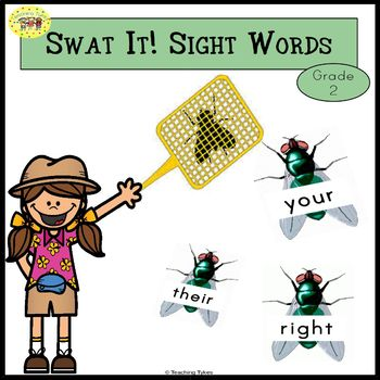 Sight Words Swatting Flies Game Dolch Grade 2