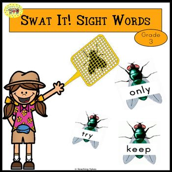 Sight Words Swatting Flies Game Dolch Grade 3