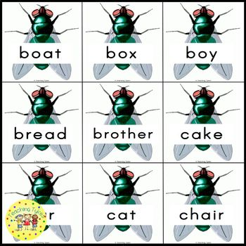 Sight Words Swatting Flies Game Dolch Nouns