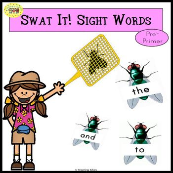 Sight Words Swatting Flies Game Dolch Pre-Primer